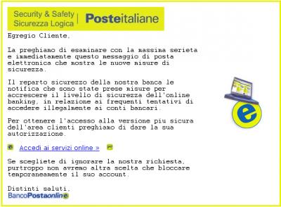 Attenzione alle finte email di Poste Italiane